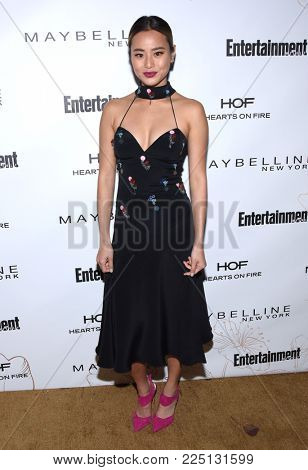 LOS ANGELES - JAN 20:  Jamie Chung arrives for the EW Magazine honors SAG Nominees on January 20, 2018 in West Hollywood, CA