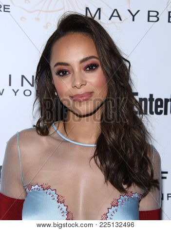 LOS ANGELES - JAN 20:  Amber Stevens West arrives for the EW Magazine honors SAG Nominees on January 20, 2018 in West Hollywood, CA