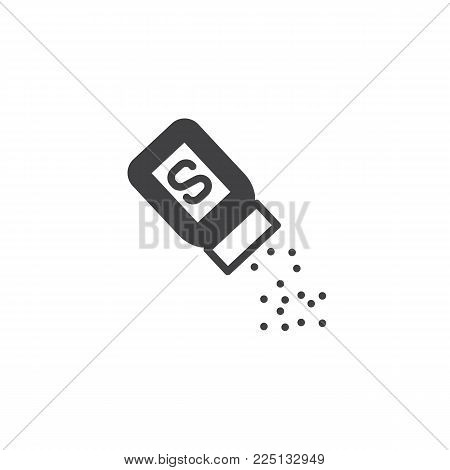 Salt shaker icon vector, filled flat sign, solid pictogram isolated on white. Symbol, logo illustration.
