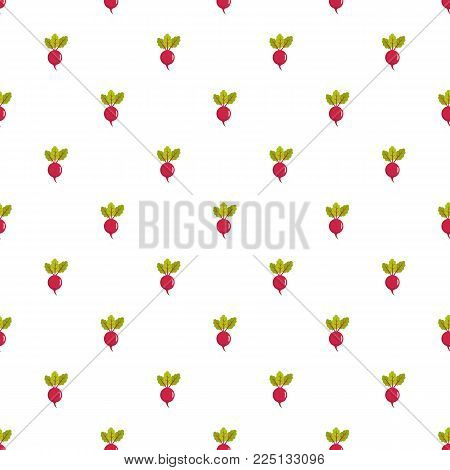 Beet pattern seamless in flat style for any design