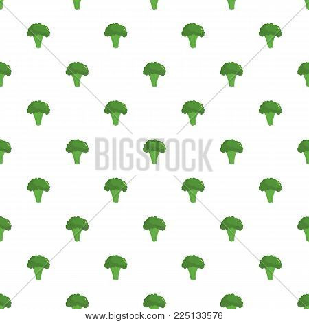 Broccoli pattern seamless in flat style for any design