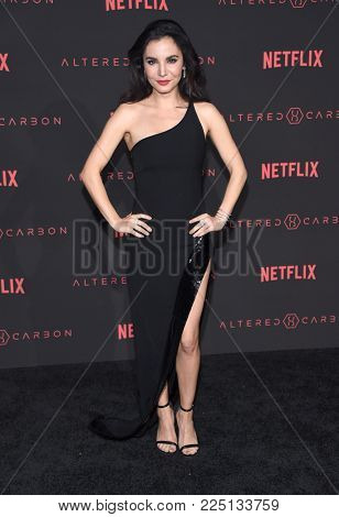 LOS ANGELES - FEB 01:  Martha Higareda arrives for the Netflix's 'Altered Carbon' Season 1 Premiere on February 1, 2018 in Los Angeles, CA