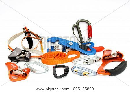 Climbing Set of Tools and devices used in caving