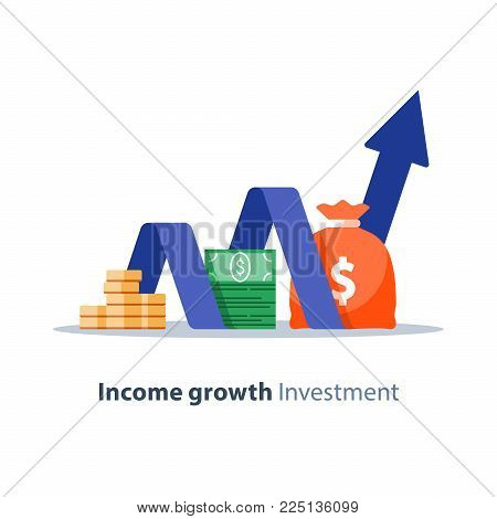 Income Growth Chart Vector Photo Free Trial Bigstock