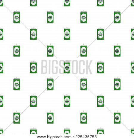 Beer can pattern seamless in flat style for any design