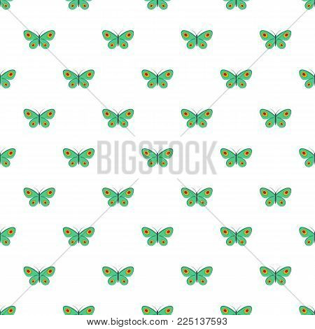 Unknown butterfly pattern seamless in flat style for any design