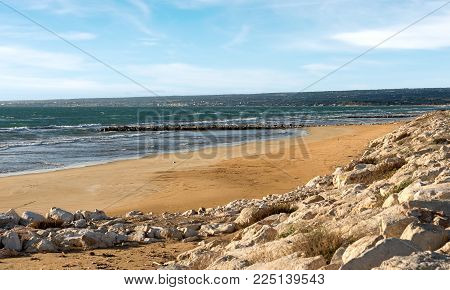 Coastline And Beaches Of Southern Sicily In The Province Of Ragusa, Italy, Europe