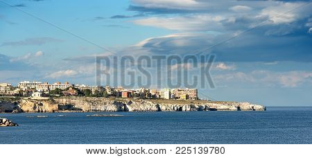 The City Of Syracuse (siracusa) Seen From The Ortygia Island (isola Di Ortigia) With The Mediterrane