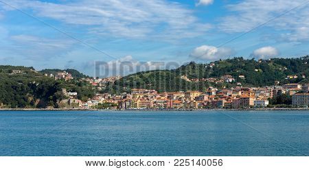 San Terenzo Village (st. Terenzo) Famous Tourist Resort In Lerici, Gulf Of La Spezia, Liguria, Italy