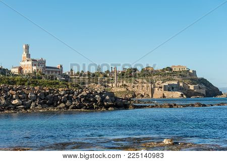 Coastline Of Portopalo Of Capo Passero, The Extreme South-east Of The Island Of Sicily. Syracuse, It