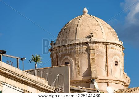The Dome Of The Church Of The Holy Spirit (chiesa Dello Spirito Santo - 1727). Island Of Ortygia (or