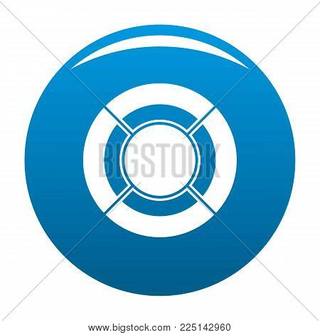Circle graph icon vector blue circle isolated on white background