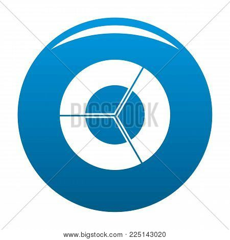 Circle diagram icon vector blue circle isolated on white background
