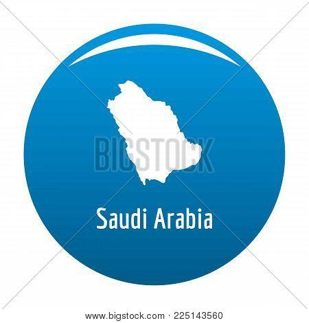 Saudi Arabia map in black. Simple illustration of Saudi Arabia map vector isolated on white background