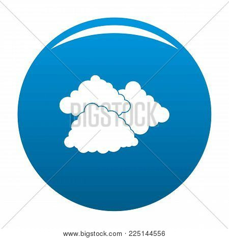 Dark cloudy icon vector blue circle isolated on white background