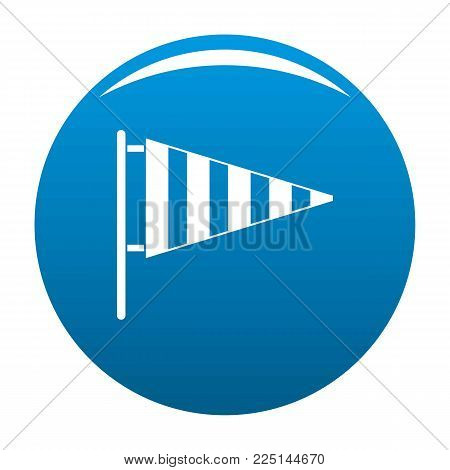 Meteorology windsock icon vector blue circle isolated on white background