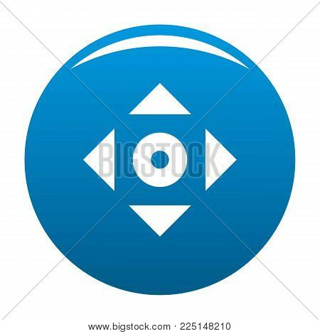 Cursor displacement app icon vector blue circle isolated on white background