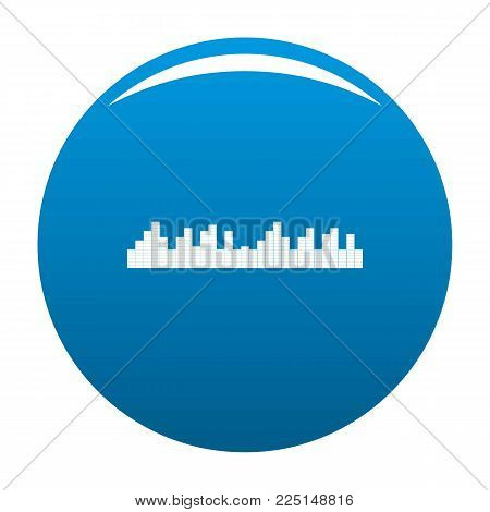 Equalizer frequency icon vector blue circle isolated on white background