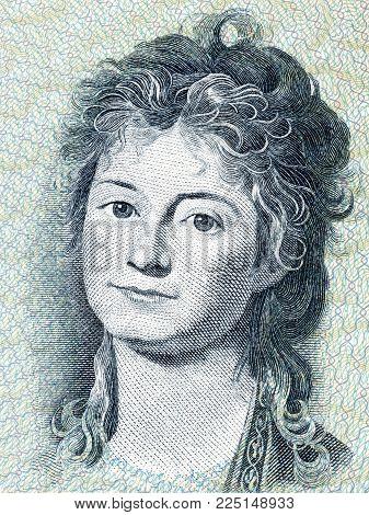Engelke Charlotte Ryberg portrait from Danish money