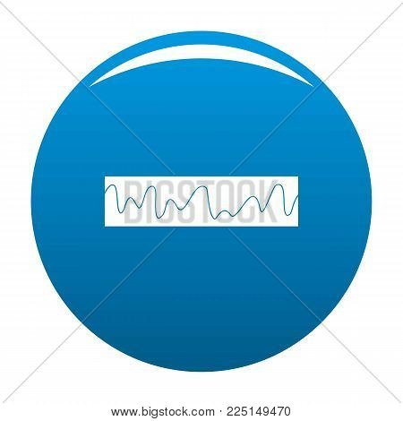 Equalizer sonic icon vector blue circle isolated on white background