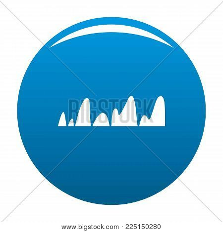Equalizer tune radio icon vector blue circle isolated on white background