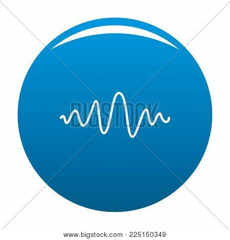 Equalizer melody radio icon vector blue circle isolated on white background