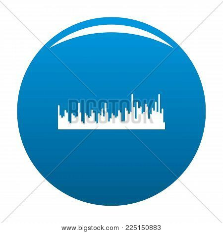 Equalizer audio icon vector blue circle isolated on white background