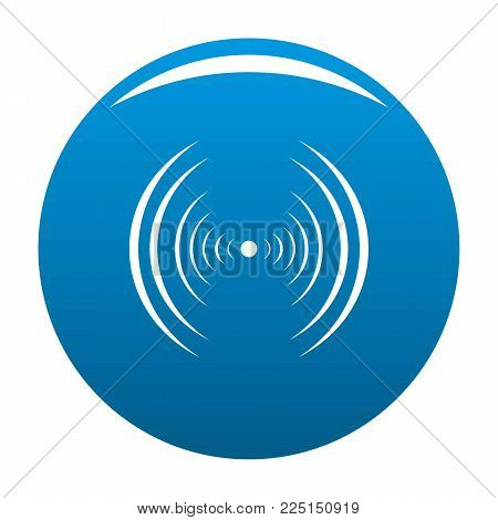 Equalizer abstract icon vector blue circle isolated on white background