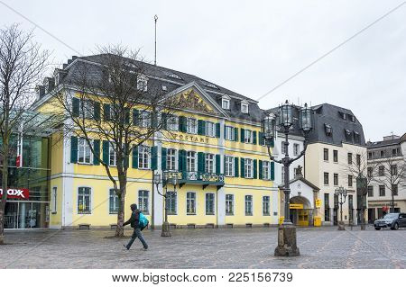 BONN, GERMANY - FEBRUARY 21, 2016: Post office of Bonn, a city on the banks of the Rhine in the German state of North Rhine-Westphalia, Germany