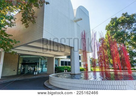 Melbourne, Australia - April 3, 2015: council chambers building of the City of Monash in suburban Glen Waverley. Monash is a south eastern municipality
