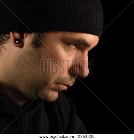 Suspicious Male Portrait
