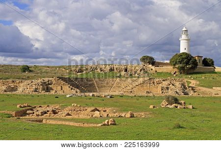 Archaeological Park in city Paphos, the greek part of Cyprus