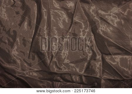 Crumpled Fabric- Texture Background. Abstract Cloth- Art Drapery.