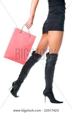 Hermosa mujer con bolsas