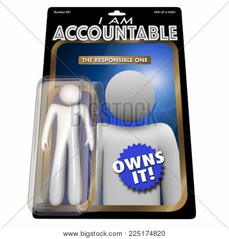 I Am Accountable Responsible Action Figure 3d Illustration
