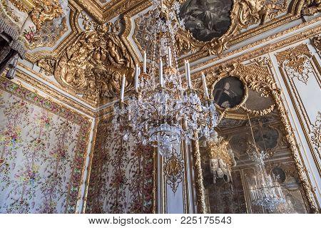 Interiors And Details Of Château De Versailles, France