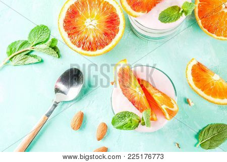 Healthy Breakfast, Blood Orange Parfait
