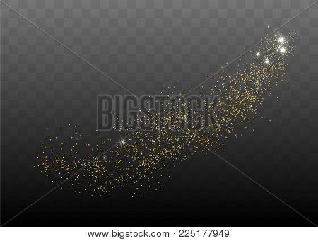 Vector light effect stars. Shining glitter vector illustration