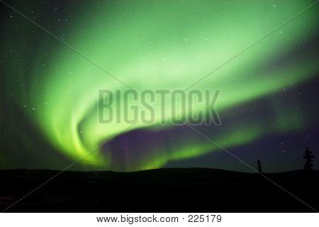 Aurora Borealis Near Fairbanks, Ak
