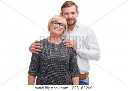 Mother and son. Happy relationship. Happy family