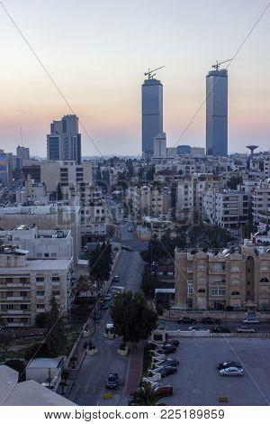 The New Downtown Of Amman Abdali Area - Jordan Amman City - View Of Modern Buildings In Amman