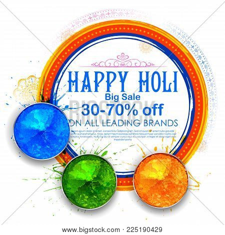 illustration of Happy Holi Advertisement Promotional backgroundd for Festival of Colors celebration greetings