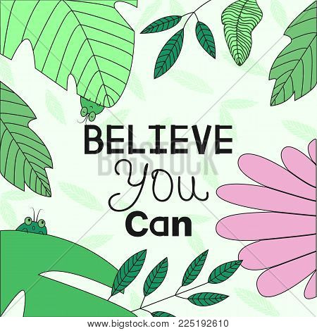 Banner Template With Inspirational Phrase