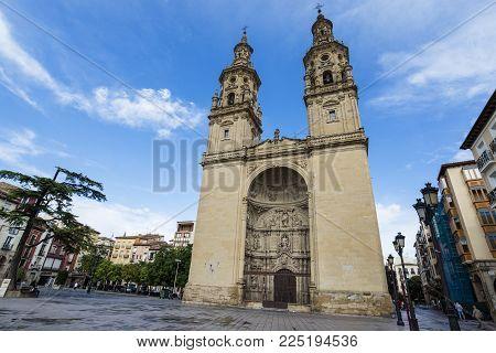 logrono, spain / spain, 27/08/2017: The cathedral of Santa María de la Redonda is a cathedral located in Logrono, in La Rioja, Spain.