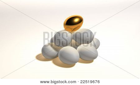 Gold egg contrast hill