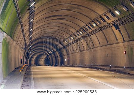Tunnel Road with two lane highway