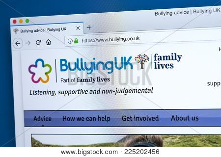 London, Uk - January 4th 2018: The Homepage Of The Official Website For Bullying Uk - The Uk Charity