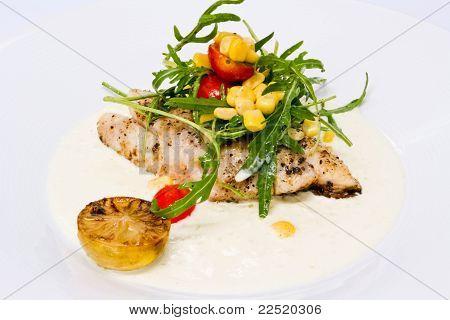 Fish Steak In Cream Sauce