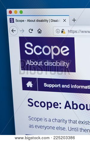 London, Uk - January 4th 2018: The Homepage Of The Official Website For Scope - The Leading Disabili