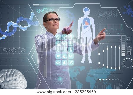 Woman doctor in telemedicine health concept